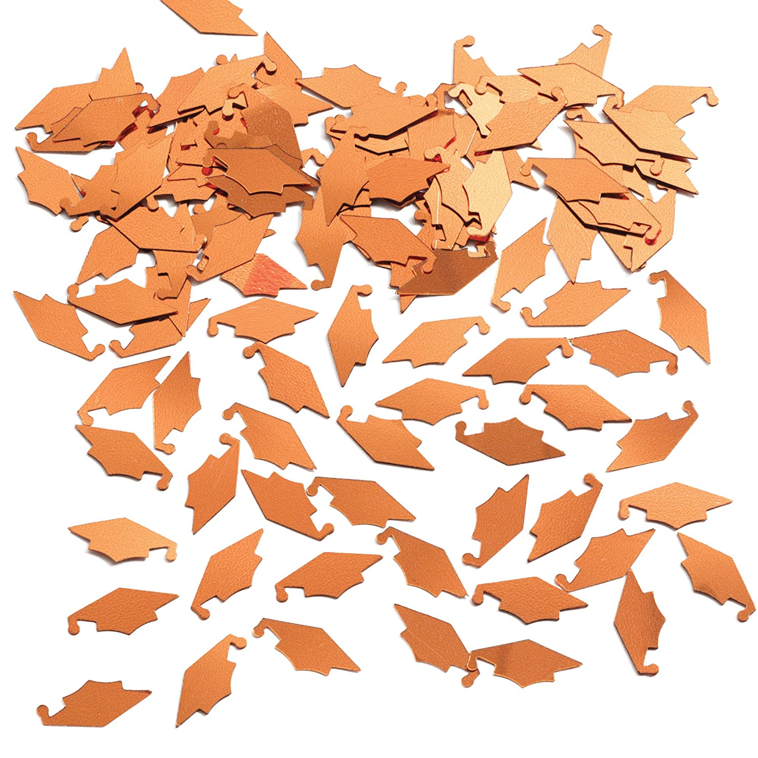 Creative Converting Graduation Caps Confetti Orange