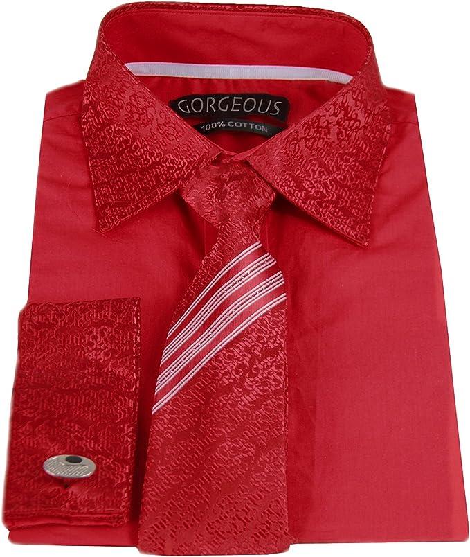 Juego de camisa, corbata y gemelos a juego para niños, con patrón ...