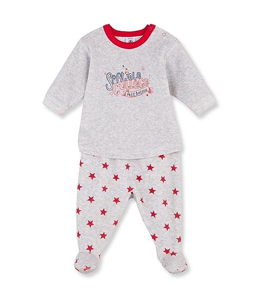 Petit Bateau PYJAMA A PIEDS-Pijama Bebé-Niñas