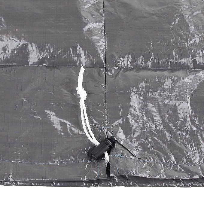 Cubierta Redonda de 65 x 70 cm Gris grillabdeckung Carcasa parrilla Barbacoa de BBQ: Amazon.es: Jardín