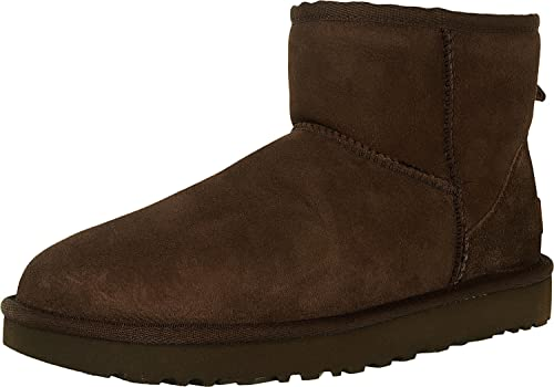 e38bf795206 UGG Women's Classic Mini II Leather Chocolate Ankle-High Suede Boot - 8M