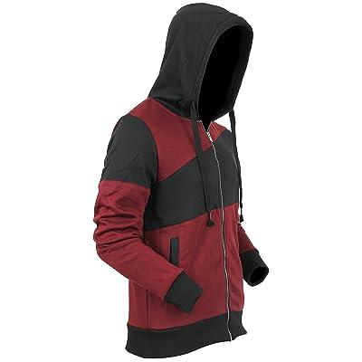 Casual Fleece Biker Hoodie Sweatshirts Zip Up Active Slim Fit VW80 series (1WEI8024)
