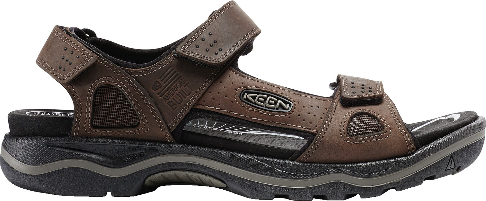 KEEN Men's Rialto 3 Point, Sandal For The Outdoors, 14 M US, Dark Earth/Black by KEEN