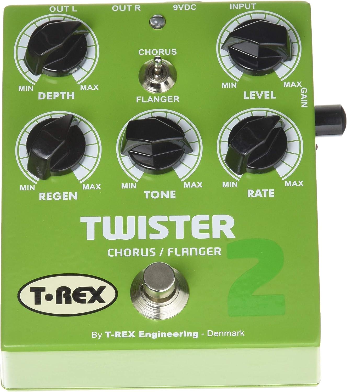 T-Rex Twister 2 P/édale deffet chorus//flanger Vert