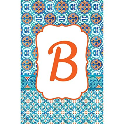 Amazon Com Moroccan Tile Letter B Embroidered