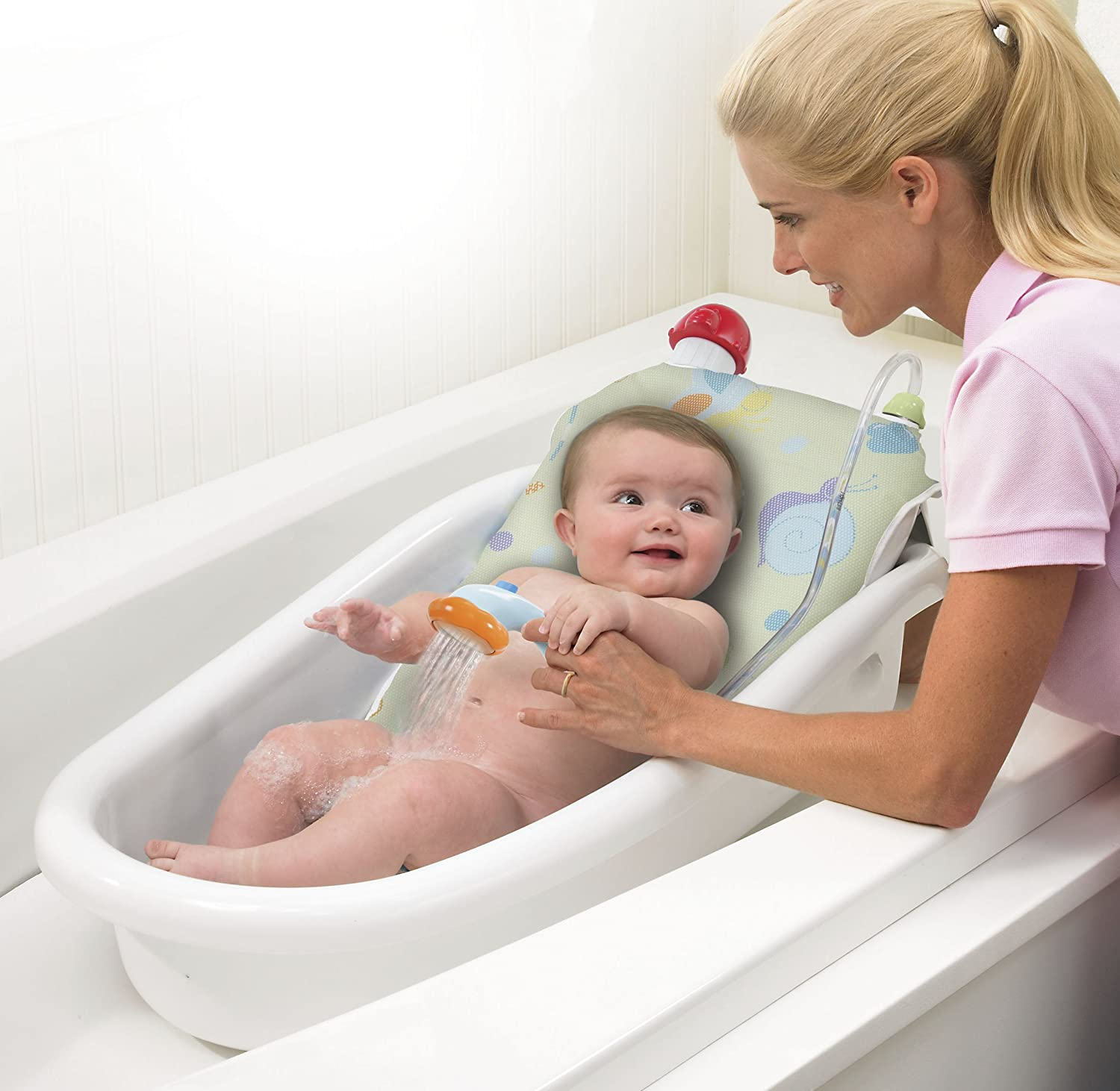 Amazon.com : Safety 1st Warm Me Shower and Bath Tub in White : Baby ...