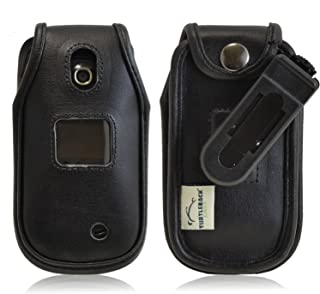 product image for Turtleback Fitted Case for LG Revere 3 VN170 Flip Phone Executive Black Leather Case with Ratcheting Belt Clip - Made in USA