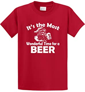 b7f0b136 Comical Shirt Men's It's Most Wonderful Time for Beer Funny Christmas T- Shirt