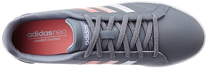 a962e34040b86 ... best price adidas neo womens coneo qt grey raypnk and ftwwht leather  sneakers 5 uk india