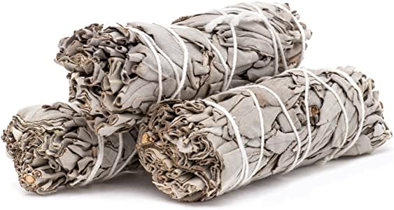 "White Sage Smudge 4"" Sticks (pack of 3)"