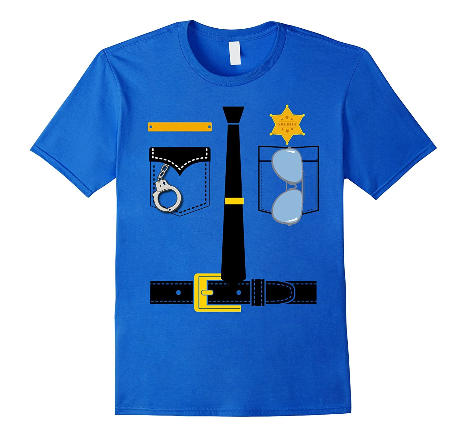 Police Uniform Costume Halloween Kids T-Shirt-Newstyleth