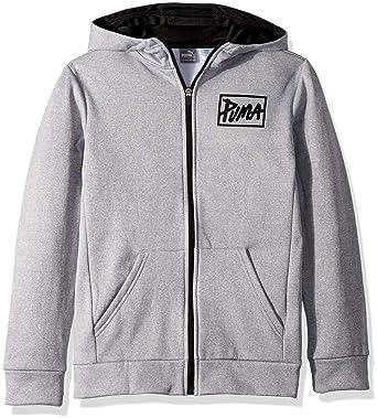 bdeb8619b9cf Amazon.com  PUMA Boys  Full-Zip French Terry Hoodie  Clothing