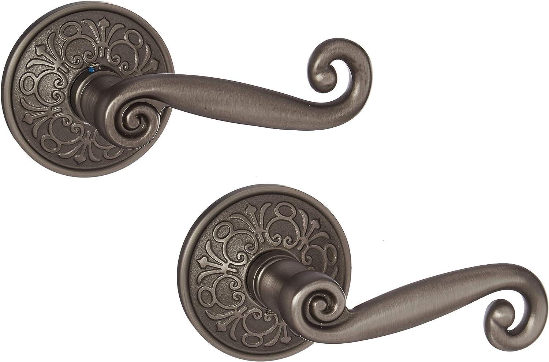 Lancaster Door Set With Scroll Design Levers Right Hand Double Dummy In Antique Pewter Old Door Knobs Amazon Co Uk Diy Tools