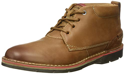 Clarks Men's Edgewick Mid Boots, Brown (Tan Leather), 7.5 UK
