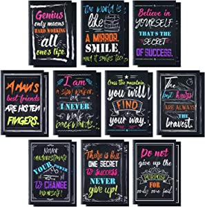 20 Pieces Inspirational Notepads Small Pocket Notebooks Mini Motivational Journal Notebook for Office School Home Travel Supplies, 10 Styles,3.2 x 5 Inches