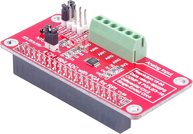 B 1PC Compatible with Raspberry Pi 3//2 ADS1115-ADC module