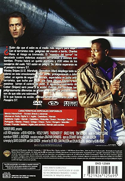 Amazon.com: Pasajero 57 (Import Movie) (European Format - Zone 2) (2009) Wesley Snipes; Bruce Greenwood; Tom Sizemore;: Movies & TV