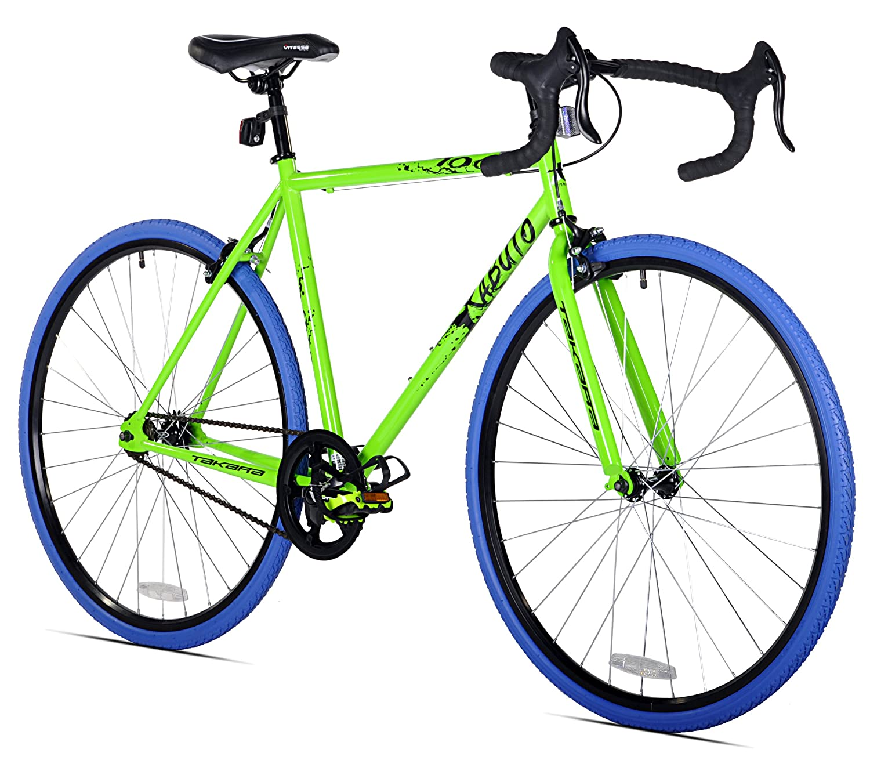 Amazon.com : Takara Kabuto Single Speed Road Bike, 700c, Black ...