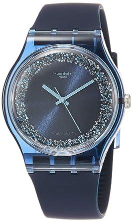Swatch Reloj Analógico para Hombre de Cuarzo con Correa en Silicona SUON134: Amazon.es: Relojes