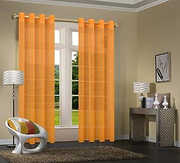 primavera 20332cn 2er pack orange vorhang transparent gardinen set graues und orange wohnzimmer