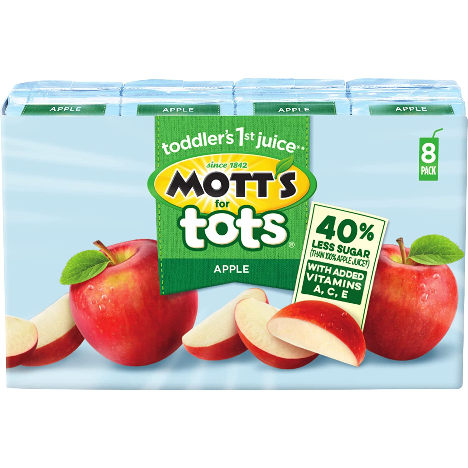 Mott's For Tots Apple, 6.75 Fl Oz Boxes, 8 Count (Pack Of 4) by Mott's