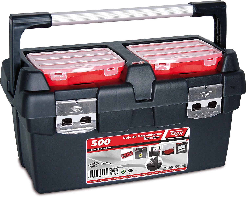Tayg Caja herramientas plástico aluminio n. 500, 500 x 295 x 270 ...