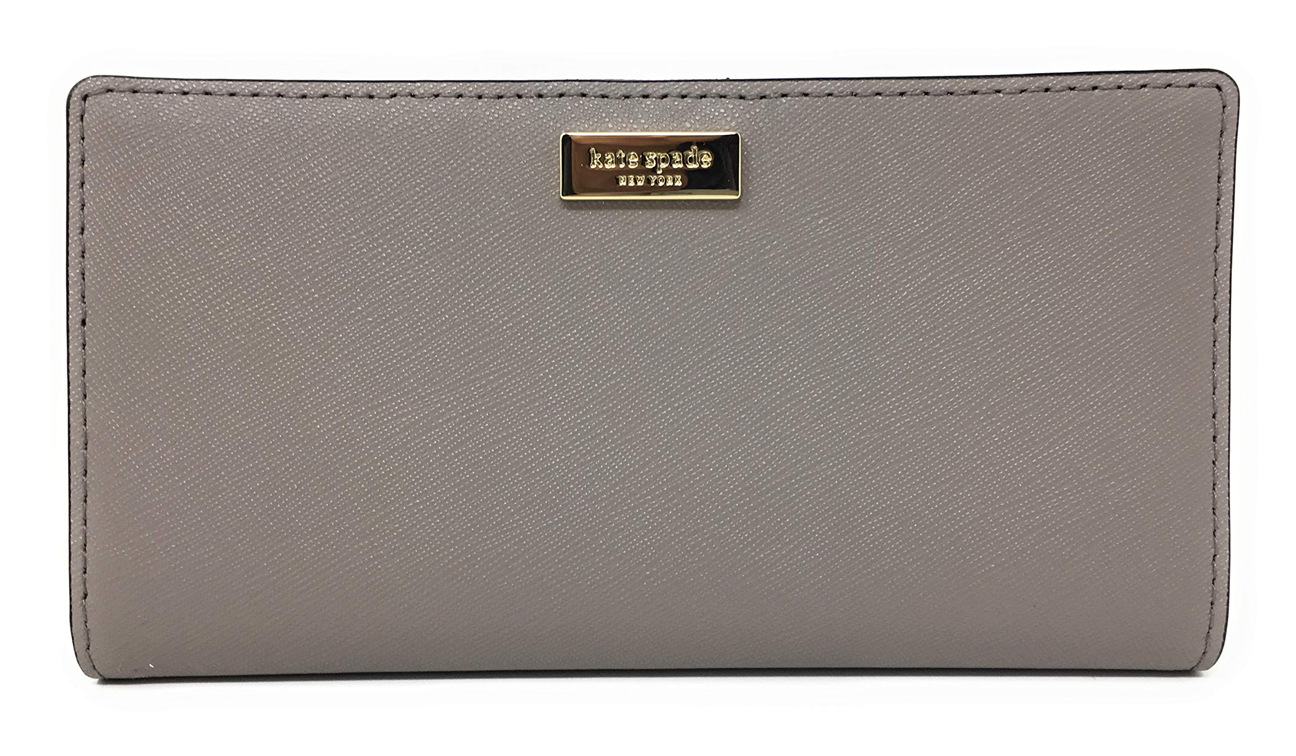 Kate Spade Laurel Way Stacy Saffiano Leather Bifold Wallet, Cityscape Grey Taupe