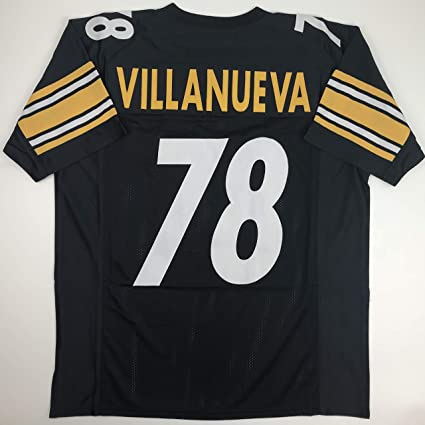 28a9f37a631 Unsigned Alejandro Villanueva Pittsburgh Black Custom Stitched Football  Jersey Size XL New No Brands/Logos