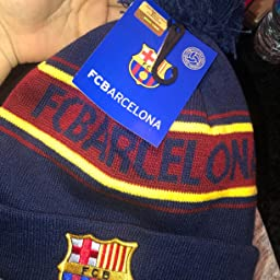 6179e72fb56 Amazon.com  Customer reviews  F.C. Barcelona Barcelona Text Cuff Knitted Hat
