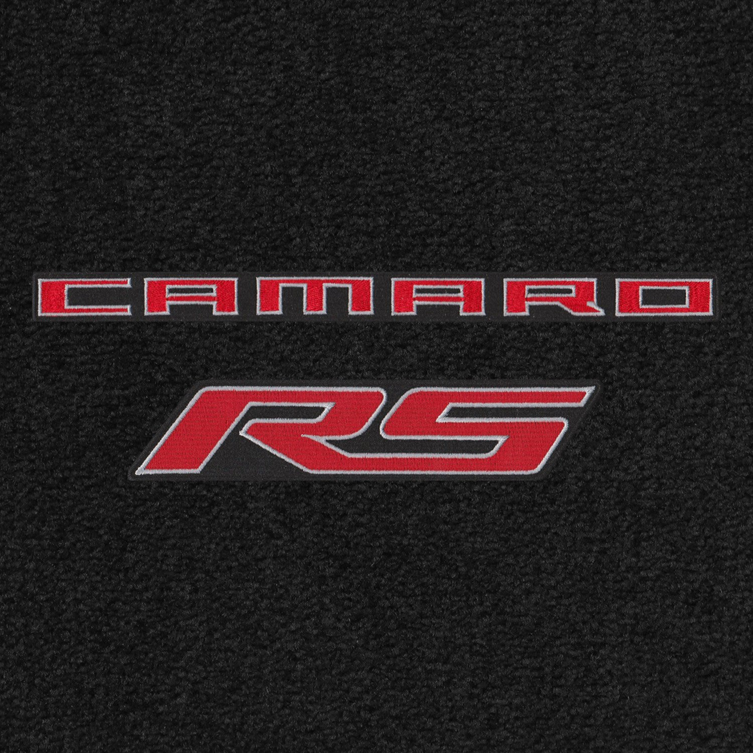 Lloyd Mats – Ultimatエボニー4pcフロアマットforカマロRS 2010 – 15 with Red Camaro RSロゴ B077RSJY3W