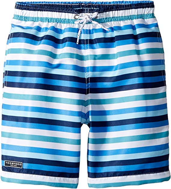 7ae459762 Toobydoo Baby Boy's Multi Blue Stripe Swim Shorts (Infant/Toddler/Little  Kids/