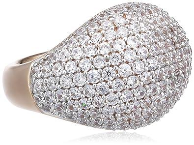 Esprit Damen-Ring 925 Sterling Silber Zirkonia NYXIA Bronze farbig Gr.53  (16.9