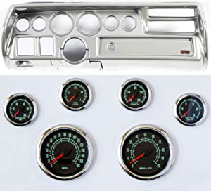 Classic Dash 105702212 Chevelle Sweep Silver Dash Carrier Panel High Velocity 60's Muscle Gauges