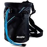Sukoa Chalk Bag for Rock Climbing - Bouldering Chalk Bag Bucket with Quick-Clip Belt and 2 Large Zippered Pockets - Rock…