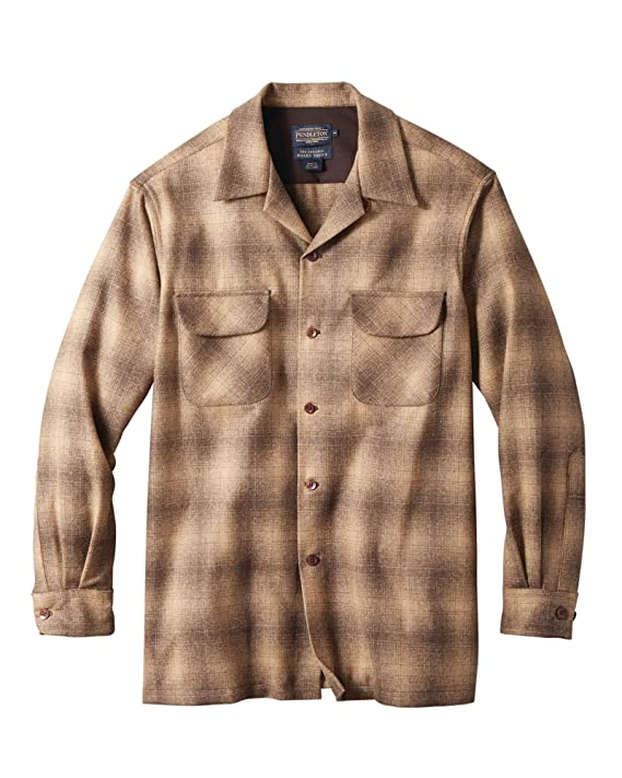 1950s Men's Clothing Pendleton Mens Long Sleeve Classic-fit Board Shirt $139.00 AT vintagedancer.com
