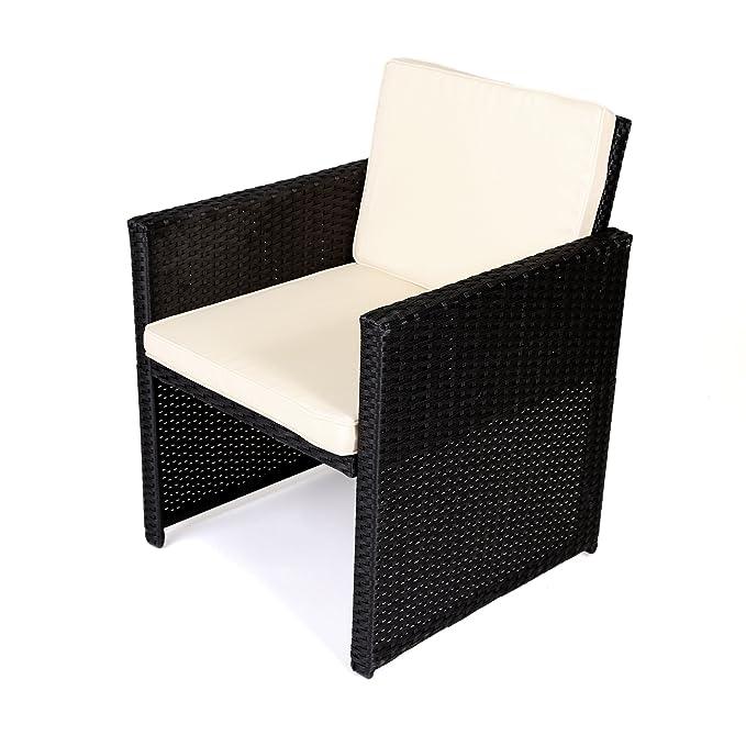 Amazon.de: MA-Trading Polyrattan Outdoor Lounge Set Sitzgruppe ...