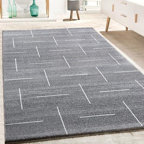 Alfombra De Diseño para Salón Moderna Jaspeada En Turquesa, Gris Y Blanco, tamaño: