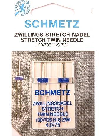 Schmetz Stretch Zwilling Aguja doble 130/705 4,0/75 plano pistón para