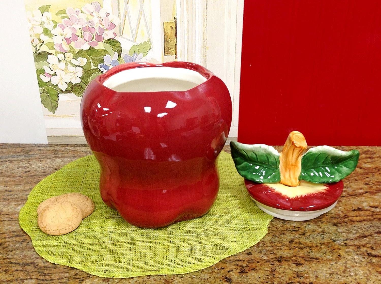 Red Apple Kitchen Decor Red Ceramic Kitchen Canisters Ceramic Kitchen Canister Oil Vinegar