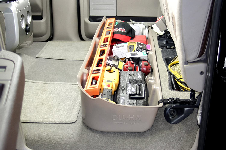Du Ha 20100 Ford Under Seat Storage Console Organizer Grey