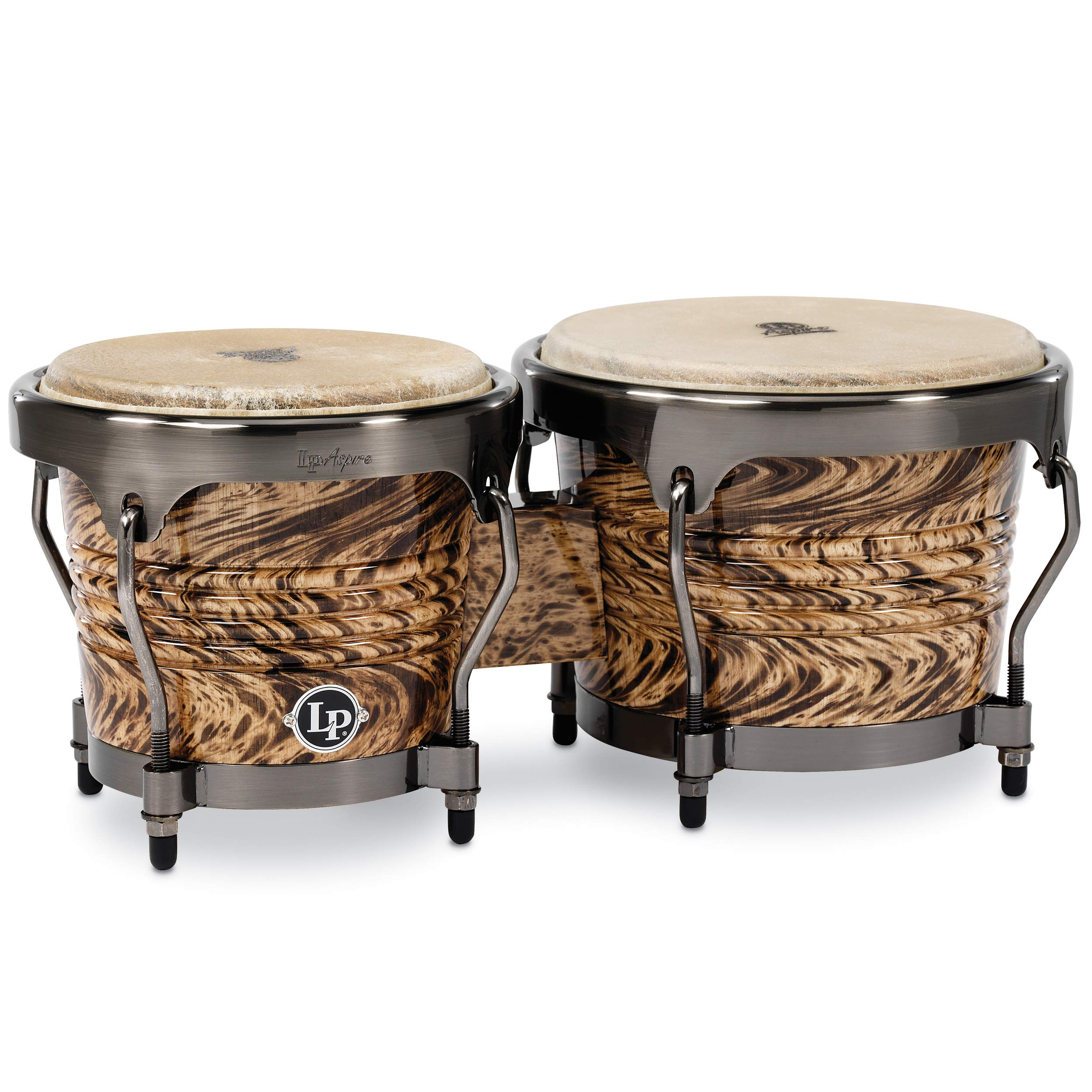 Latin Percussion Aspire Series Bongos - Havana Cafe with Brushed Nickel Hardware by Latin Percussion