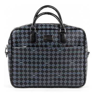 V 1969 Italia Mens Bag V1969019 GREY BLACK  Amazon.co.uk  Shoes   Bags 9eeb9c9a91234