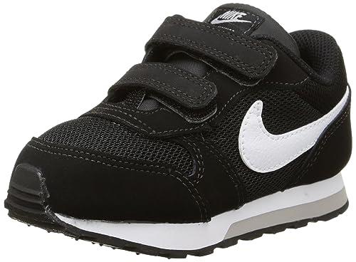 Nike Boys' MD Runner 2 Low-Top Sneakers, Black (Black/White