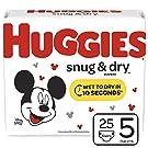 Huggies Snug & Dry Diapers, Size 5 (27+ lb.), 25 Ct, Jumbo Pack (Packaging May Vary)