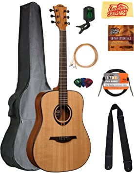 Lag t80d Tramontana Dreadnought Guitarra Acústica Paquete con ...