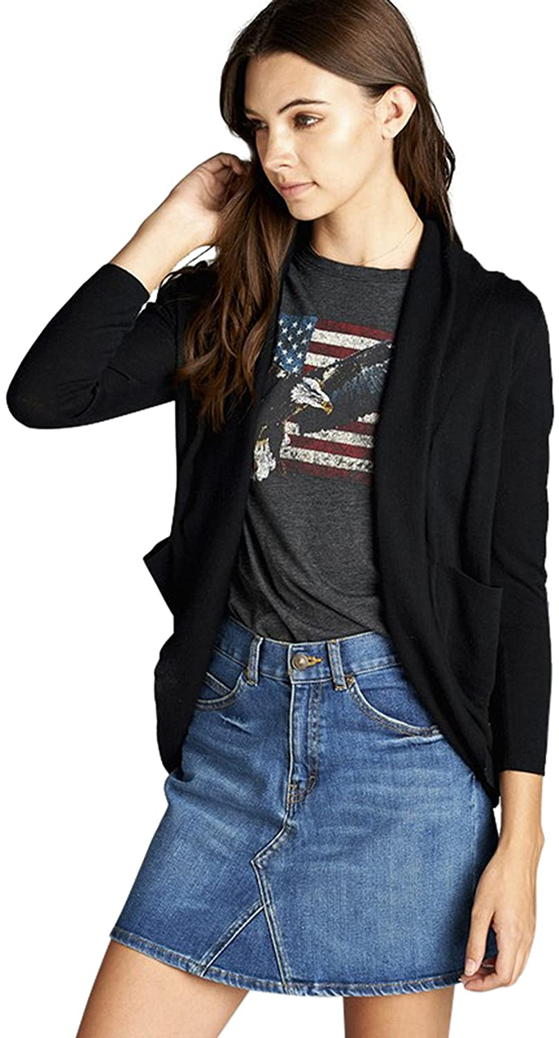 08df04550bd This 3 4 Dolman Sleeve Open Cocoon Cardigan with Side Pockets is the  perfect choice for the fashion forward looking to stay warm in the cooler  months of the ...