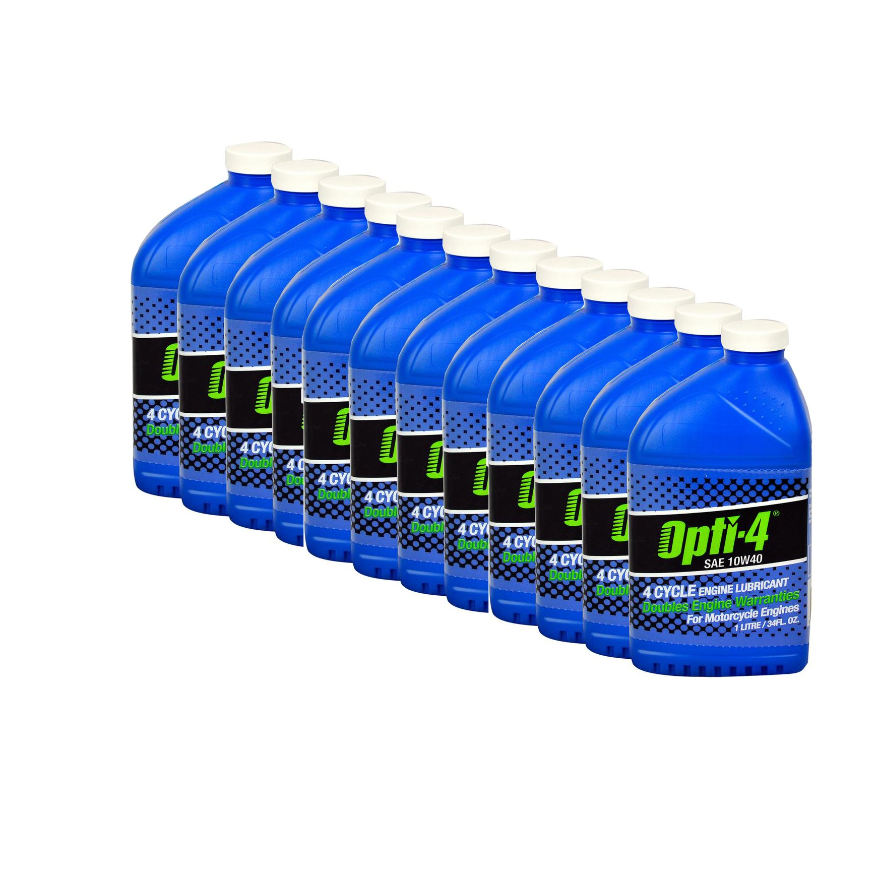 Opti-4 44121 12PK SAE 10W40 34Oz 4-Cycle Engine Lubricant for ATVs, Motorcycles