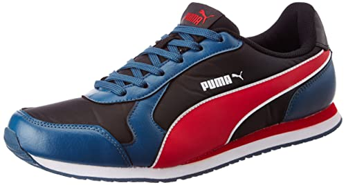 f042dcb1202 Puma Men s Cabana IDP Puma Black-Sailor Blue-Toreador Running Shoes - 11 UK