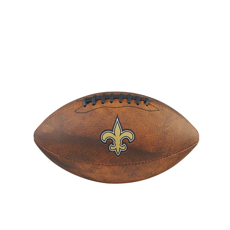 Game Master NFL New Orleans Saints Junior Wilson Throwback Football, 11-Inch, Brown Gulf Coast Sales WTF1539XBNO