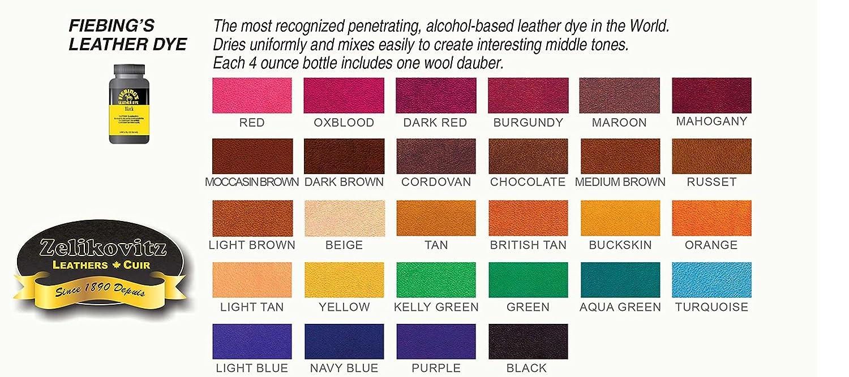 Amazon com fiebings leather dye alcohol based 4 fl oz 118ml